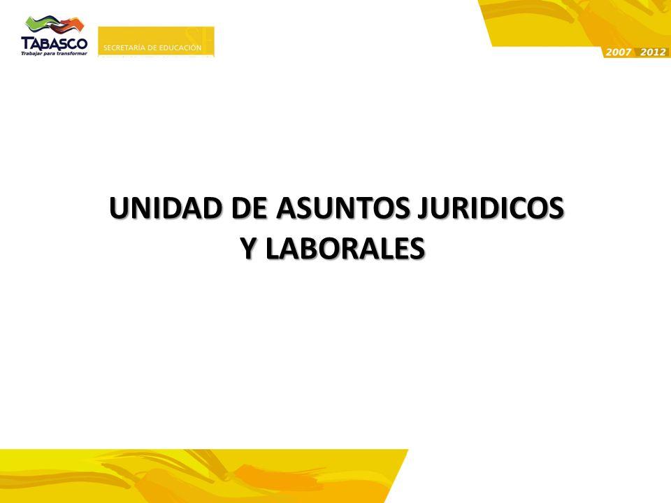 UNIDAD DE ASUNTOS JURIDICOS