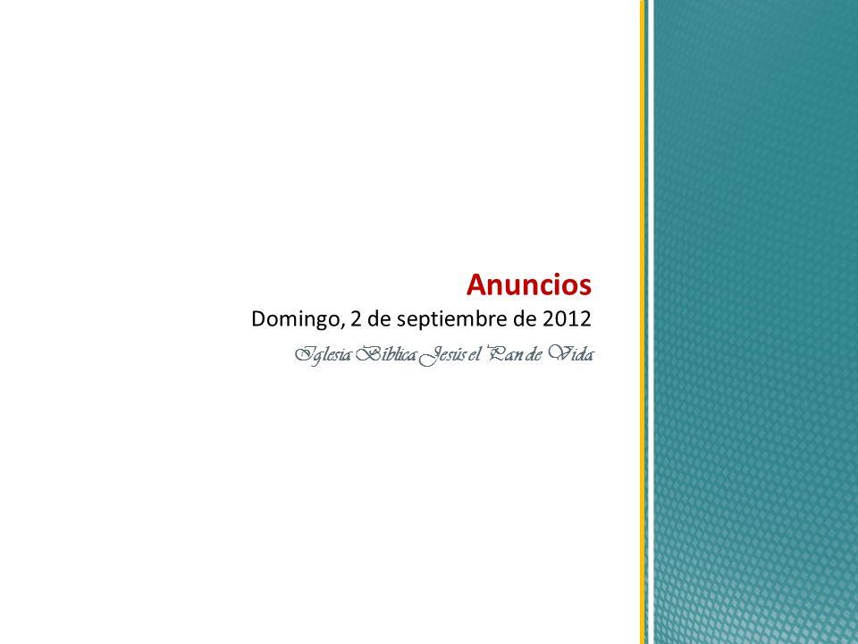 Anuncios Domingo, 2 de septiembre de 2012