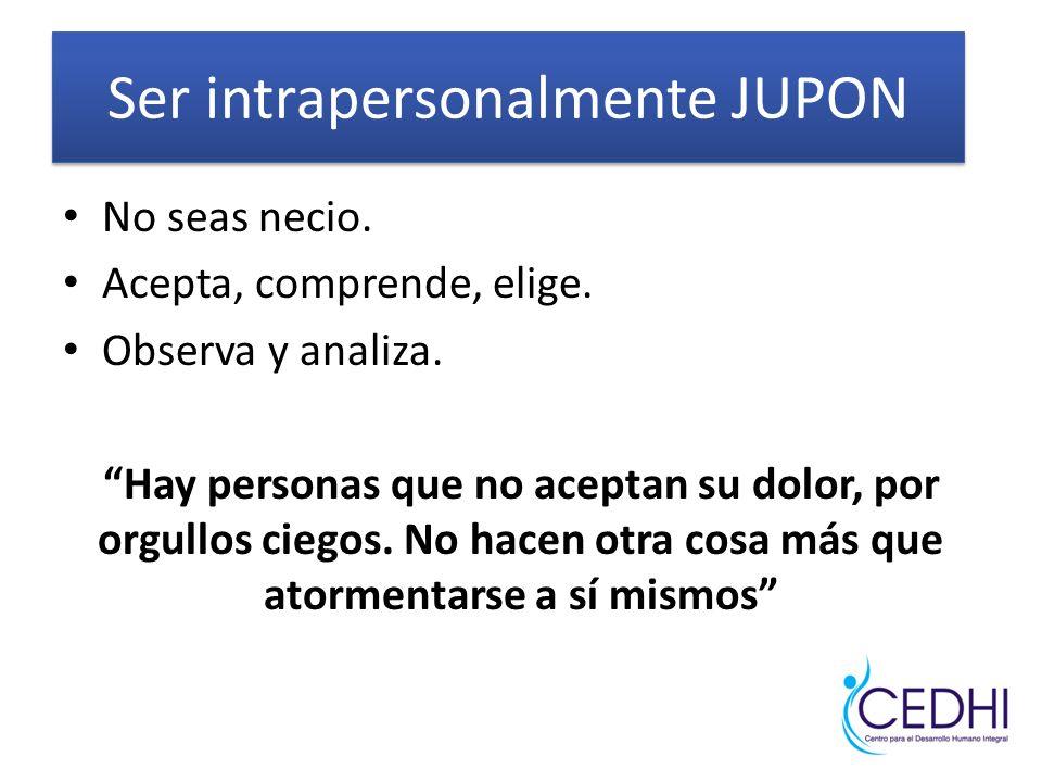 Ser intrapersonalmente JUPON