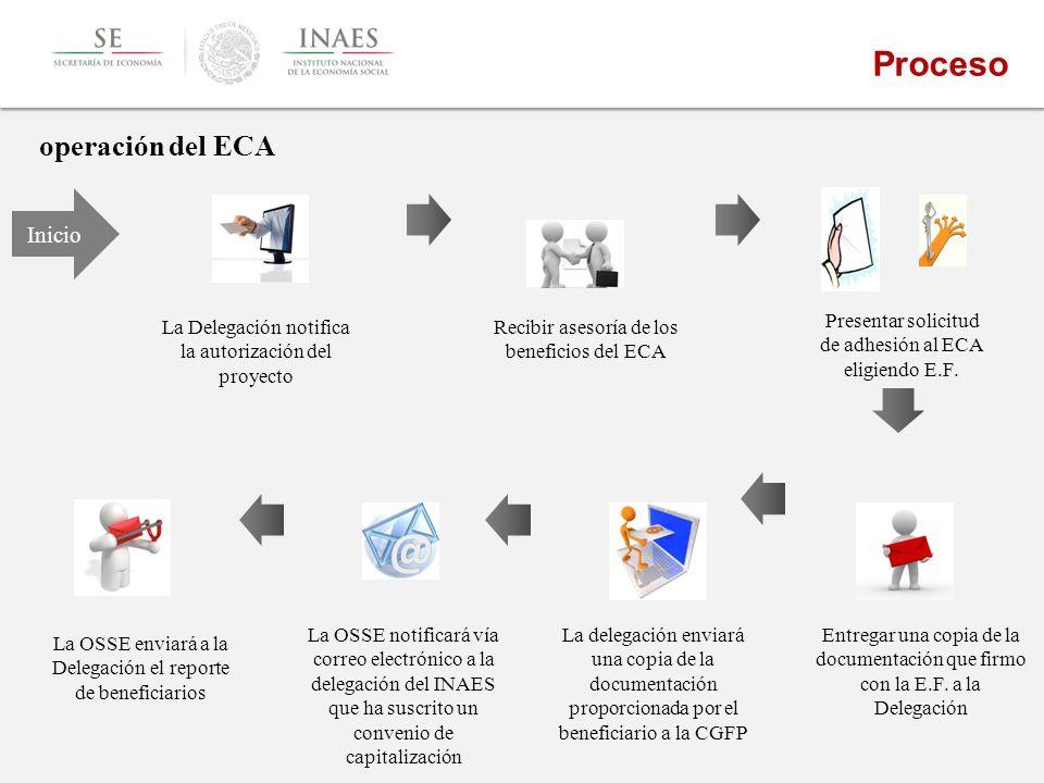Proceso operación del ECA Inicio