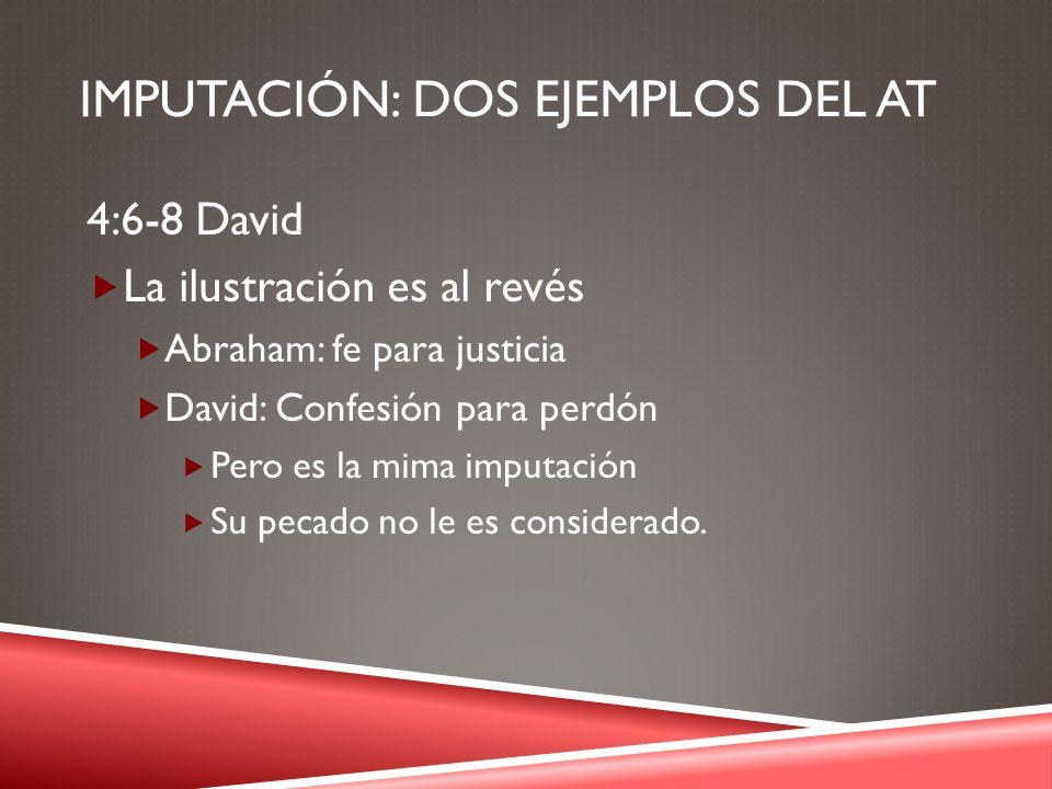 Imputación: DOS EJEMPLOS DEL AT