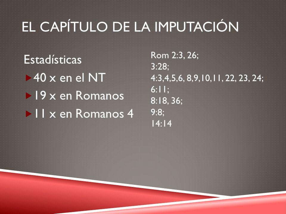 El CAPÍTULO DE LA IMPUTACIÓN
