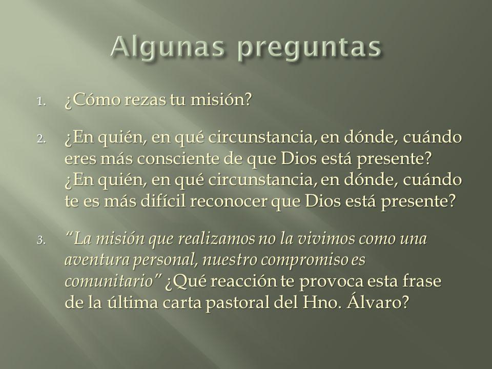 ¿Cómo rezas tu misión