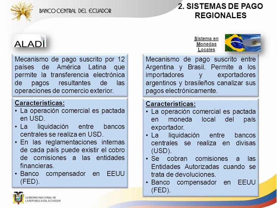 2. SISTEMAS DE PAGO REGIONALES