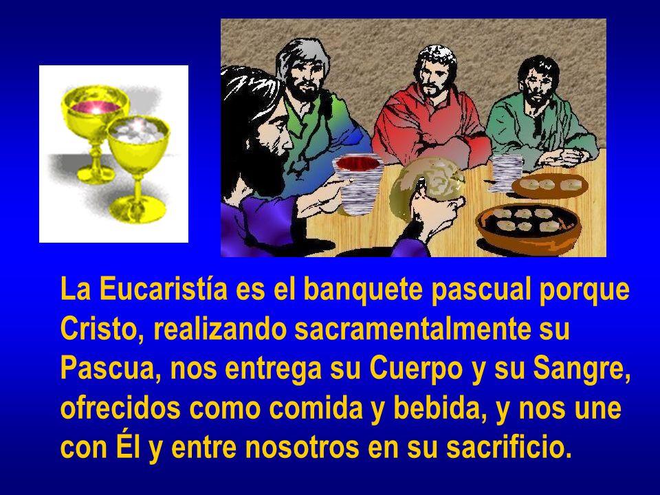 La Eucaristía es el banquete pascual porque