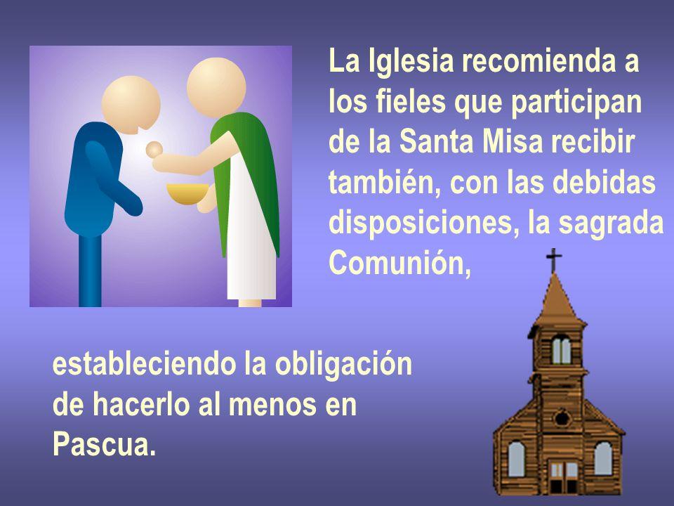 La Iglesia recomienda a