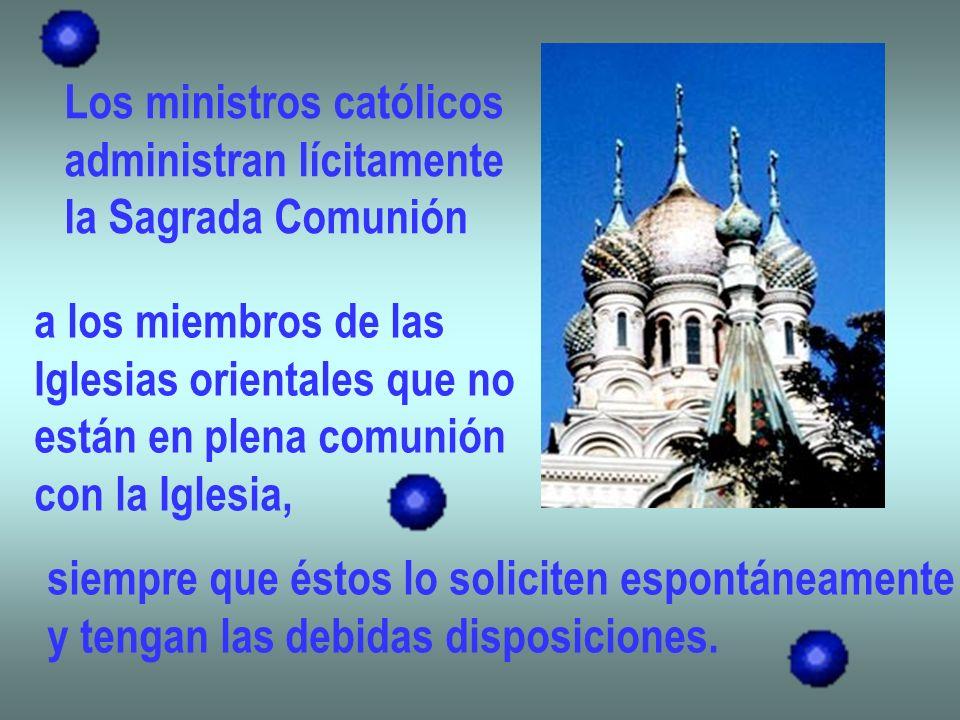 Los ministros católicos