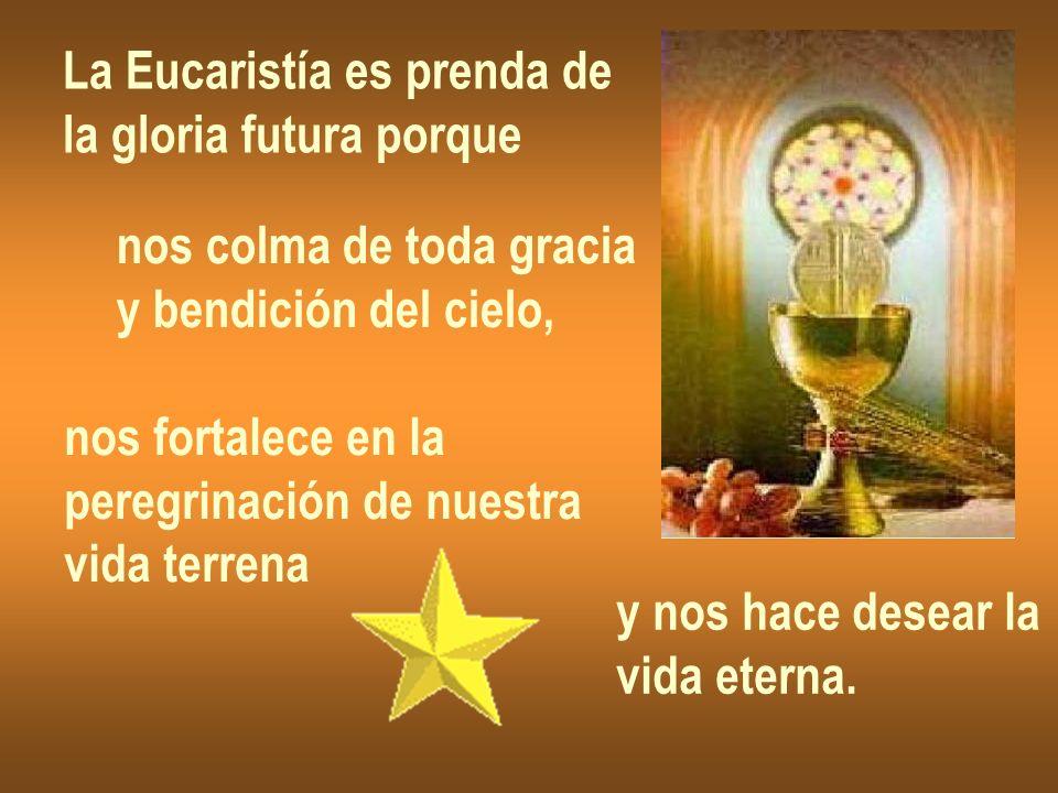 La Eucaristía es prenda de