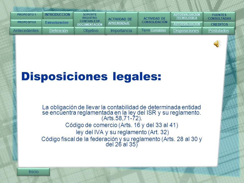 Disposiciones legales: