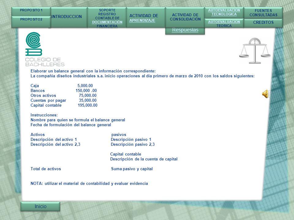 Respuestas Inicio INTRODUCCION ACTIVIDAD DE CREDITOS