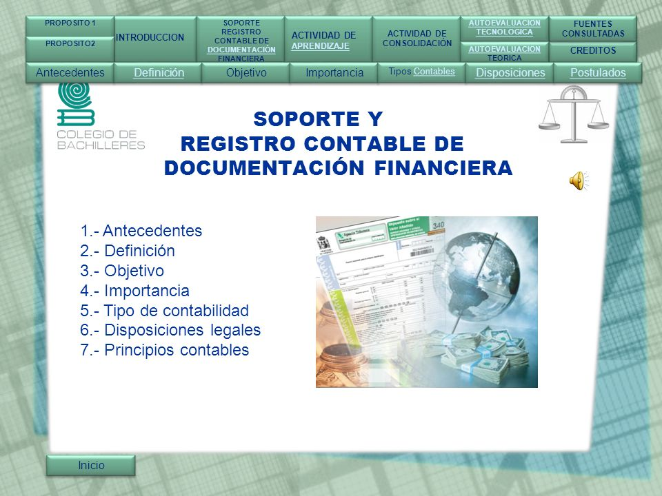 SOPORTE Y REGISTRO CONTABLE DE DOCUMENTACIÓN FINANCIERA