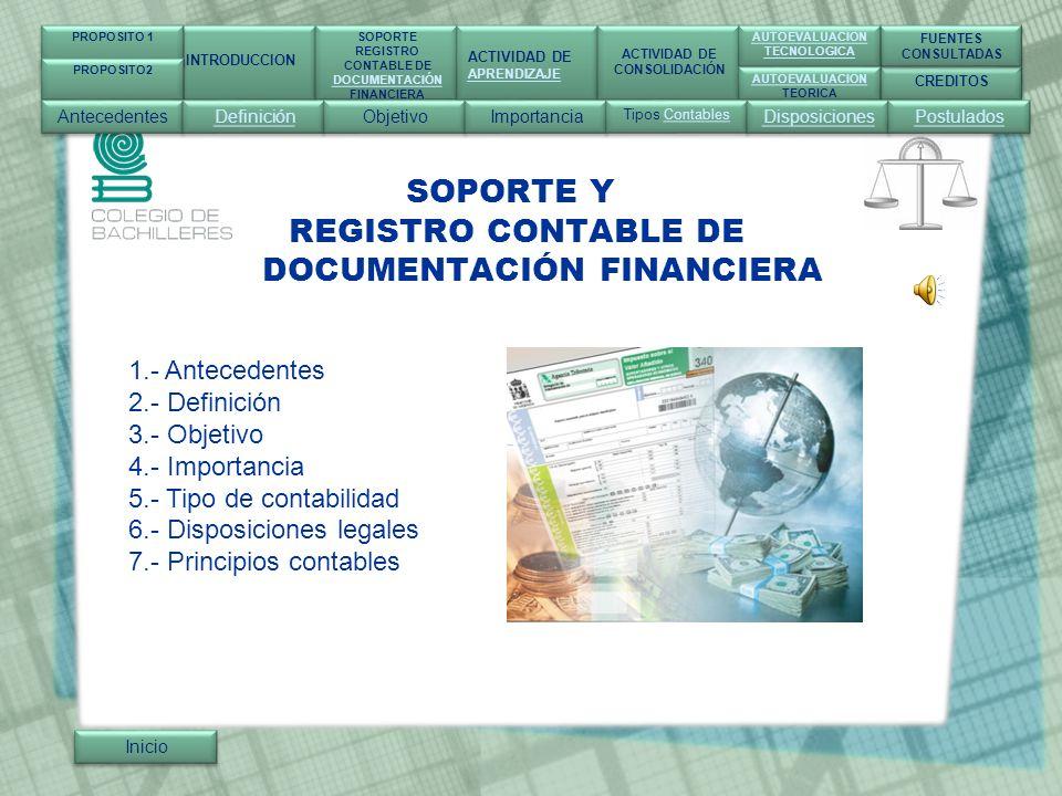 SOPORTE Y REGISTRO CONTABLE DE DOCUMENTACIÓN FINANCIERA