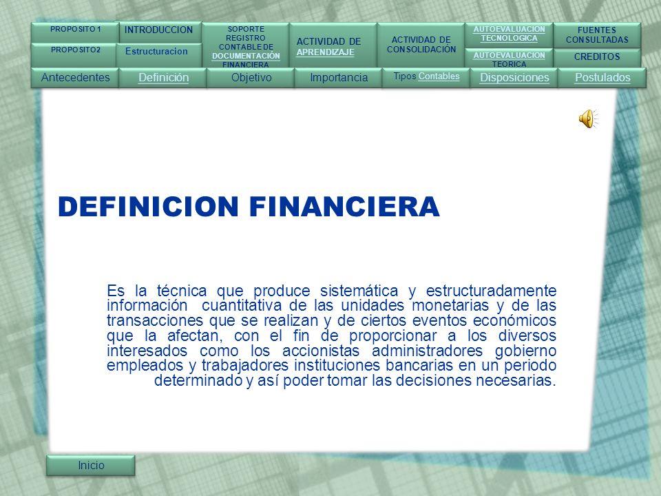 DEFINICION FINANCIERA