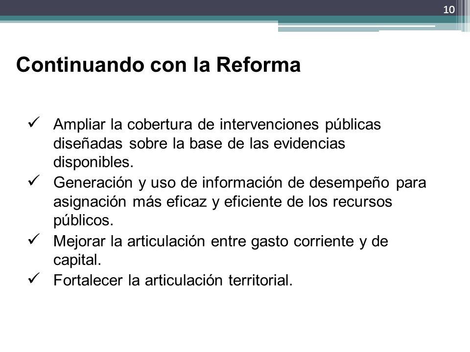 Continuando con la Reforma