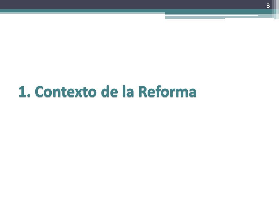 1. Contexto de la Reforma