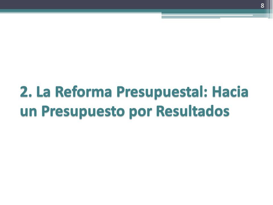 2. La Reforma Presupuestal: Hacia un Presupuesto por Resultados