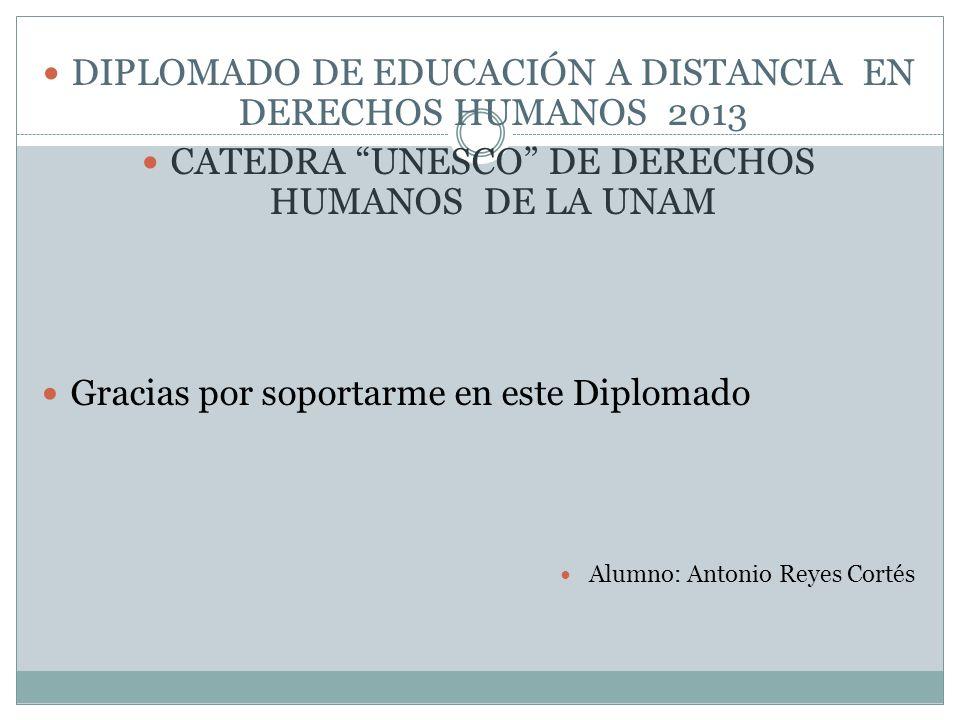 DIPLOMADO DE EDUCACIÓN A DISTANCIA EN DERECHOS HUMANOS 2013