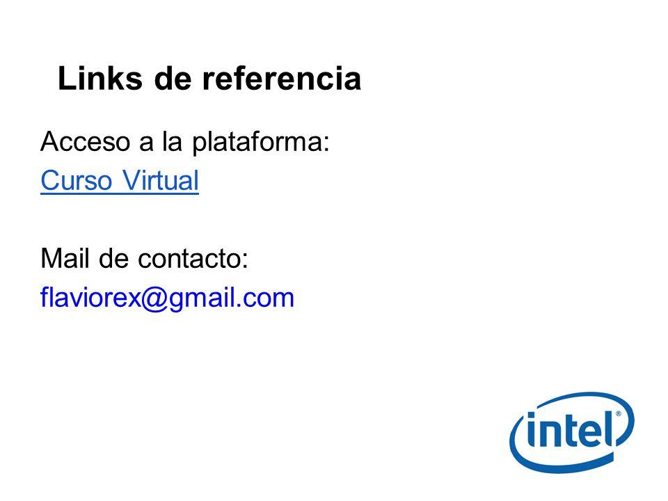 Links de referencia Acceso a la plataforma: Curso Virtual
