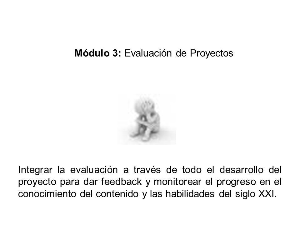 Módulo 3: Evaluación de Proyectos