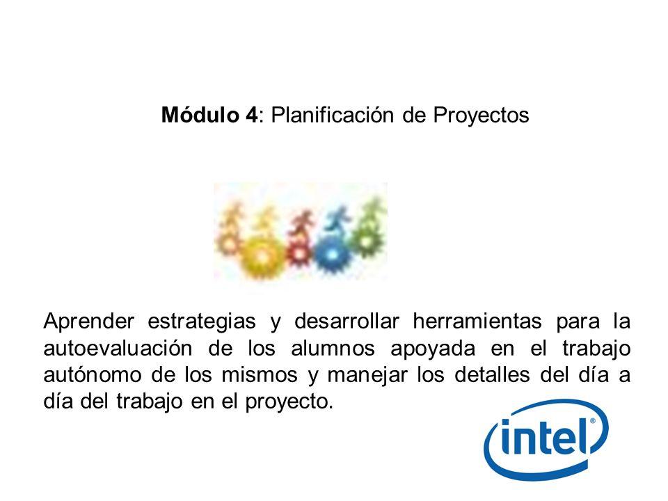 Módulo 4: Planificación de Proyectos
