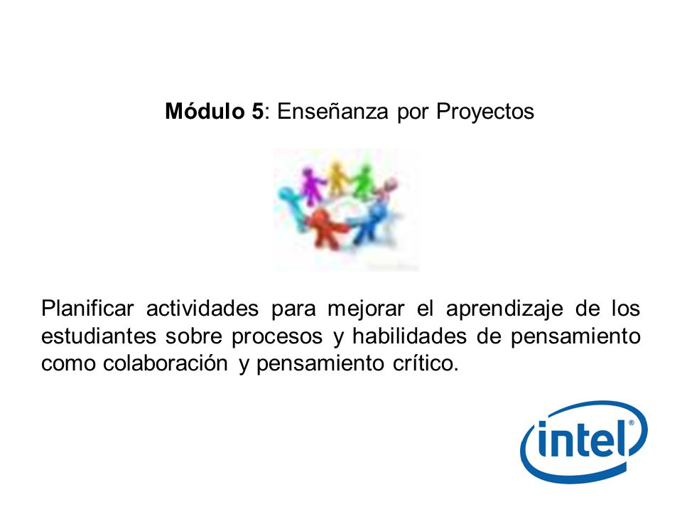 Módulo 5: Enseñanza por Proyectos