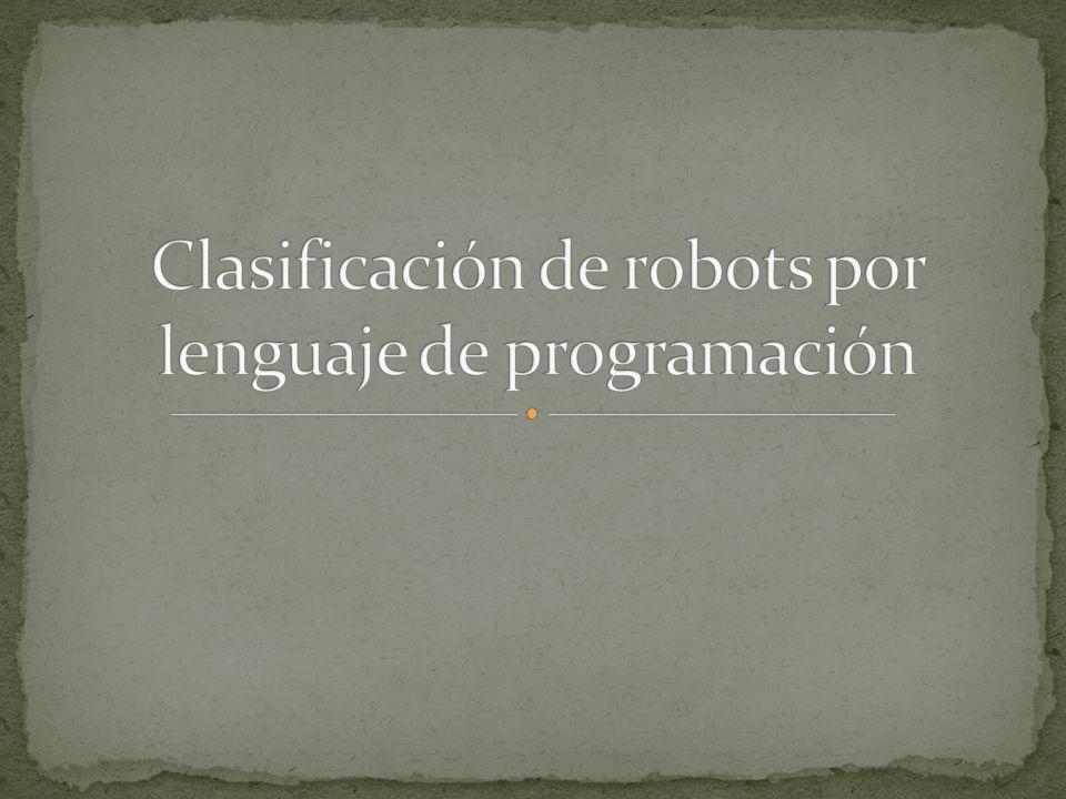 Clasificación de robots por lenguaje de programación