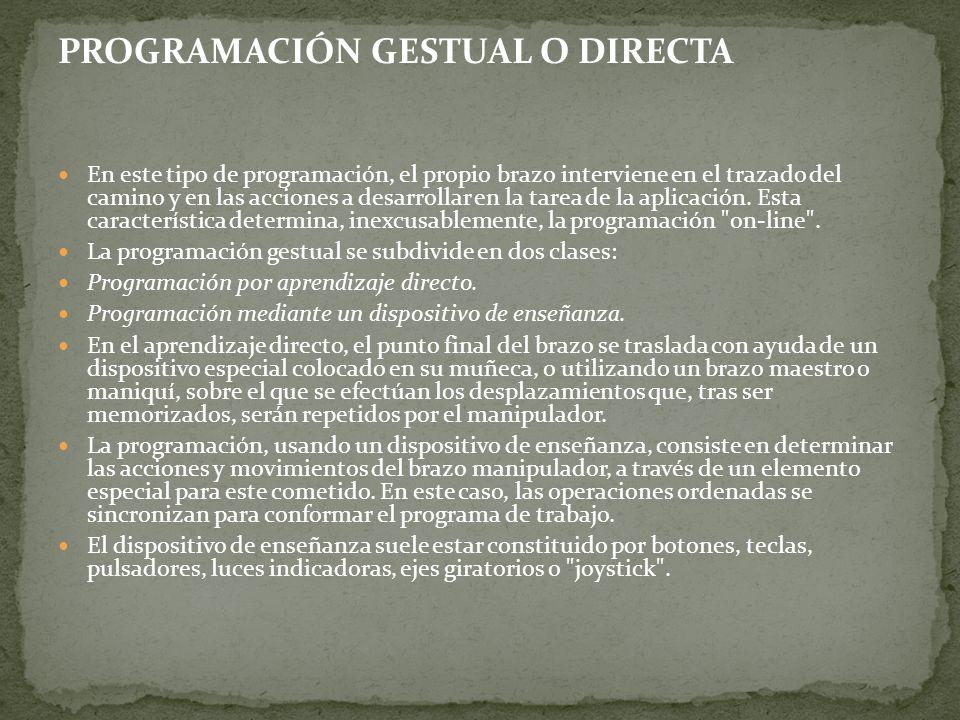 PROGRAMACIÓN GESTUAL O DIRECTA