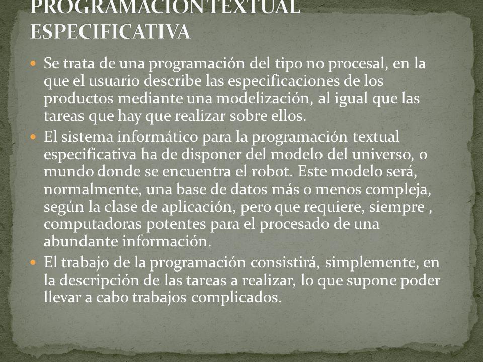 PROGRAMACIÓN TEXTUAL ESPECIFICATIVA
