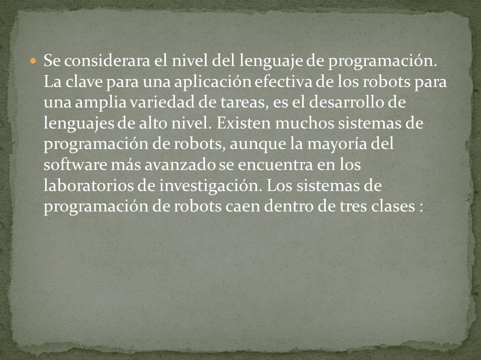 Se considerara el nivel del lenguaje de programación