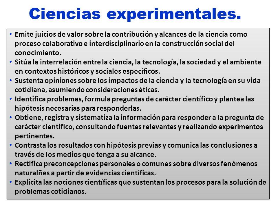 Ciencias experimentales.
