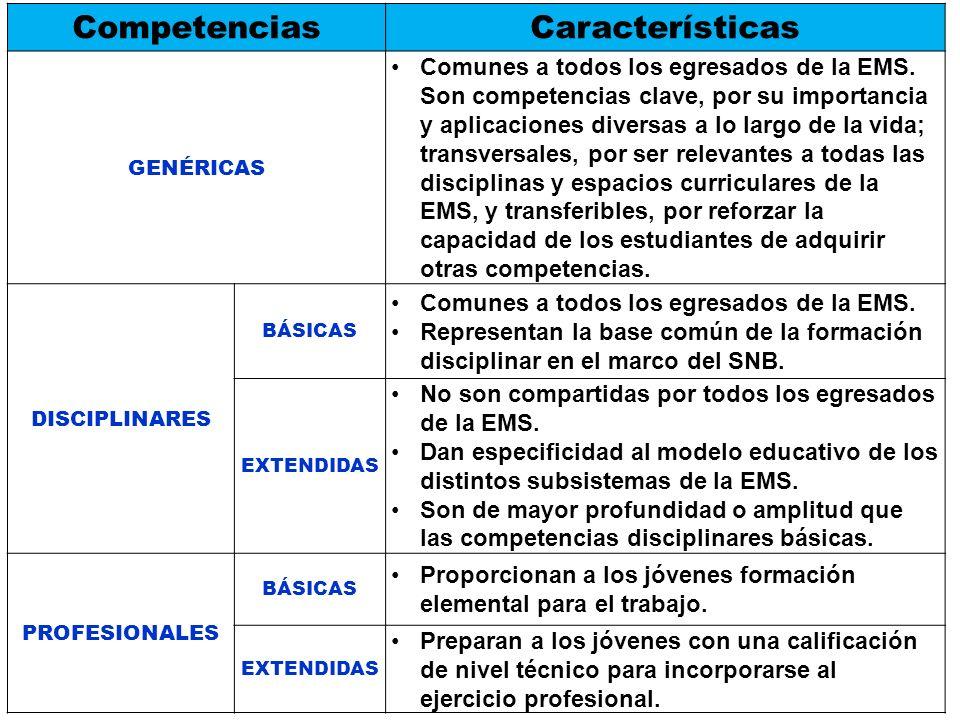 Competencias Características