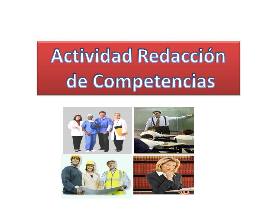 Actividad Redacción de Competencias