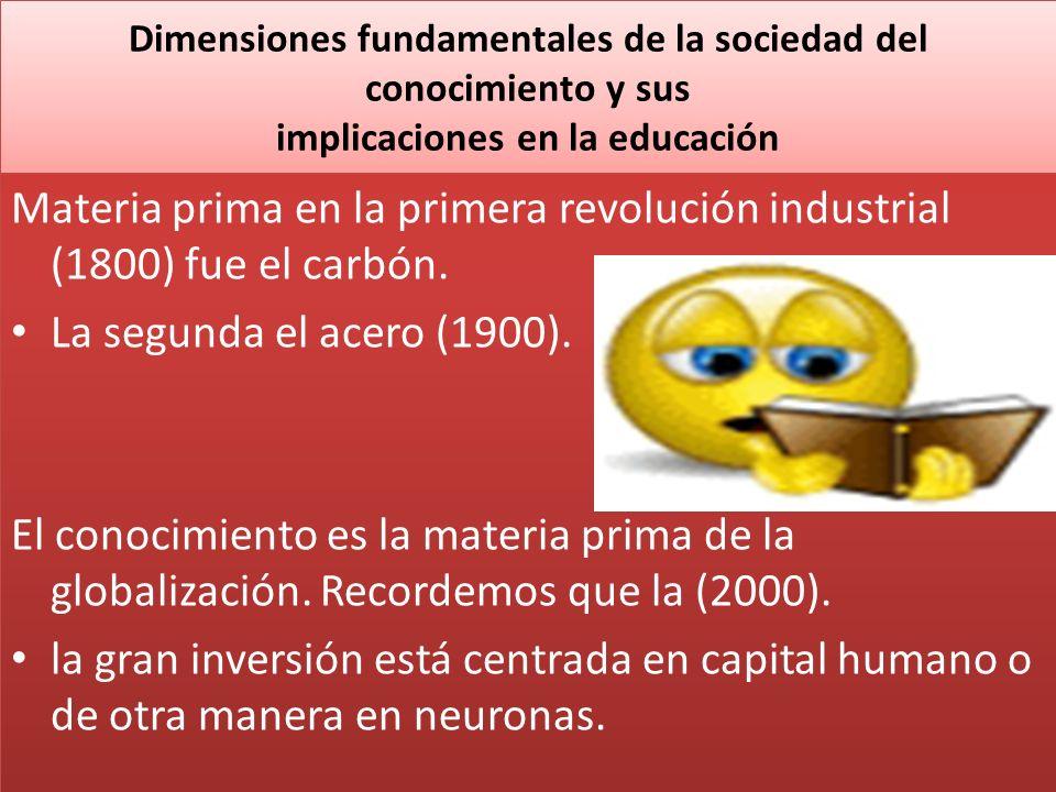 Dimensiones fundamentales de la sociedad del conocimiento y sus implicaciones en la educación