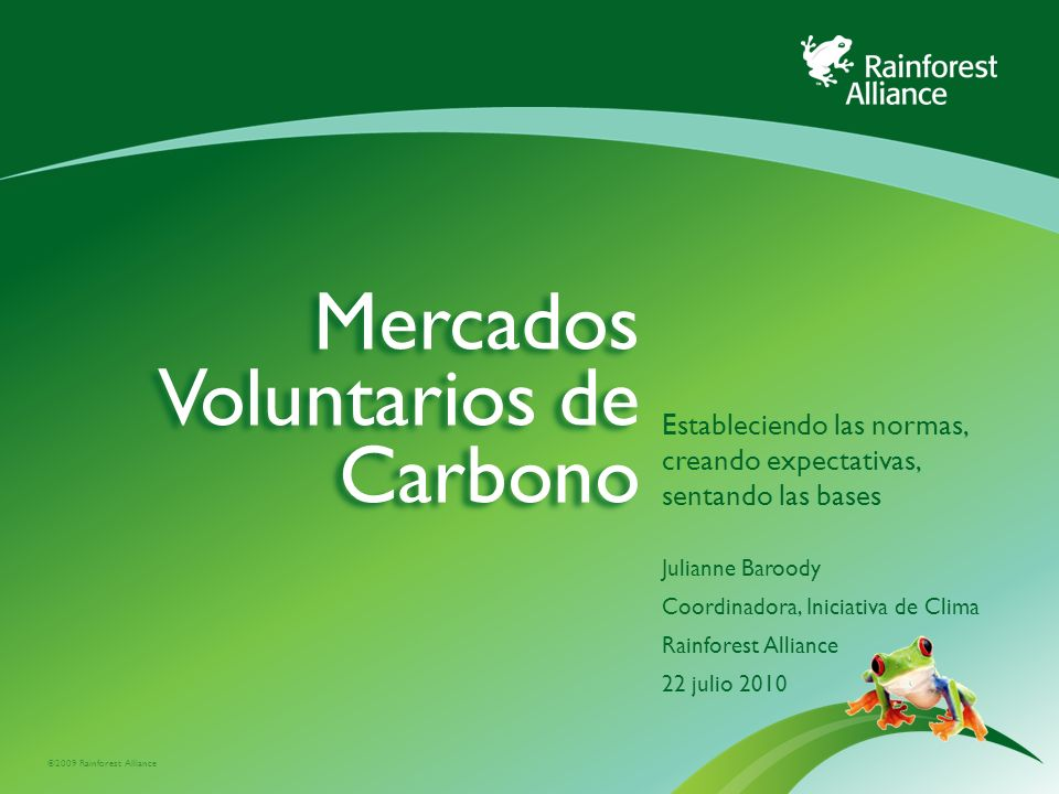 Mercados Voluntarios de Carbono