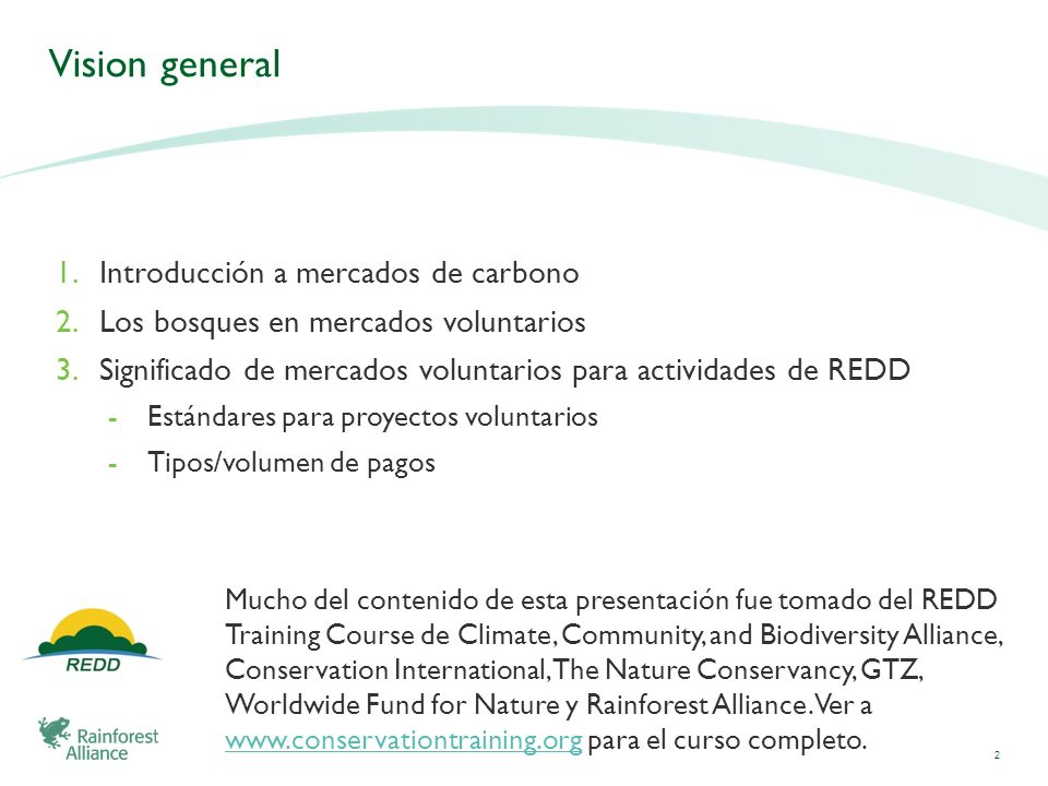 Vision general Introducción a mercados de carbono