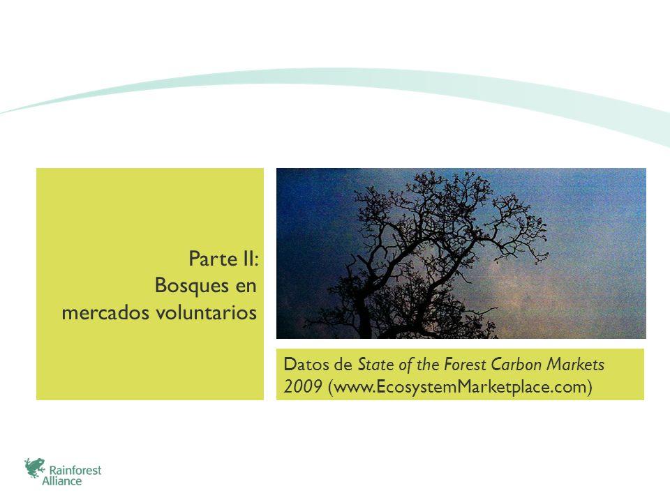 Parte II: Bosques en mercados voluntarios