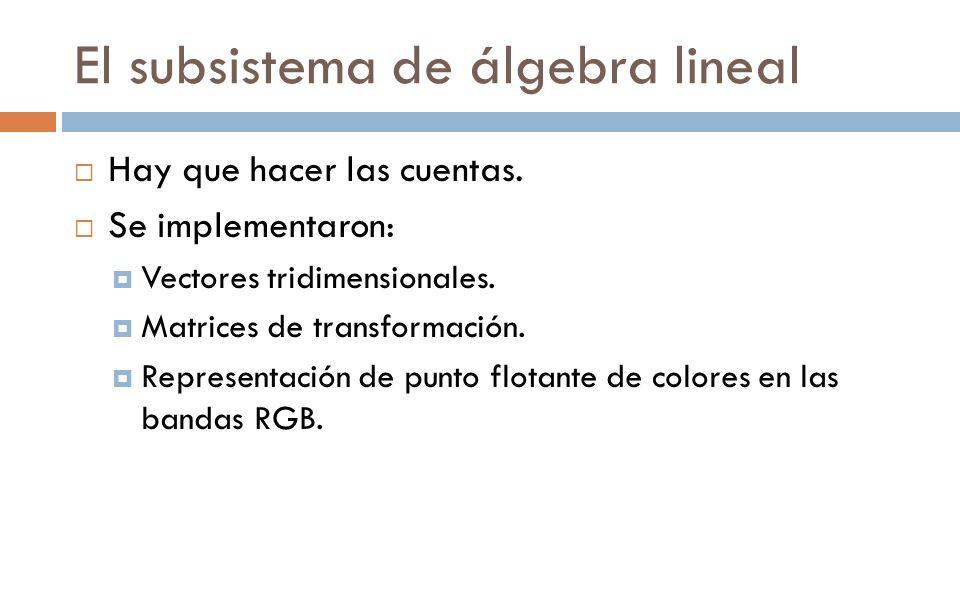 El subsistema de álgebra lineal