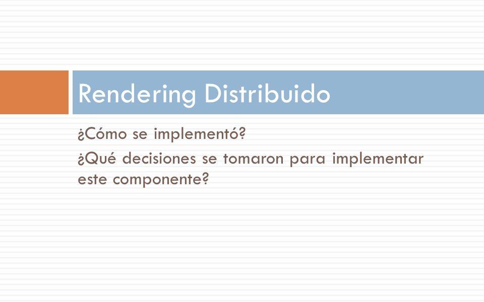 Rendering Distribuido