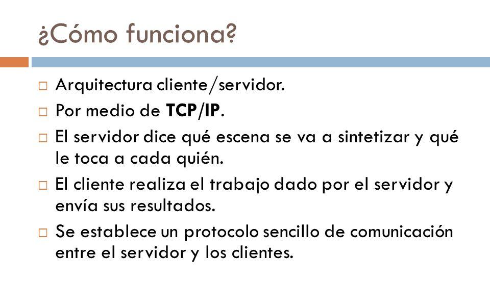 ¿Cómo funciona Arquitectura cliente/servidor. Por medio de TCP/IP.