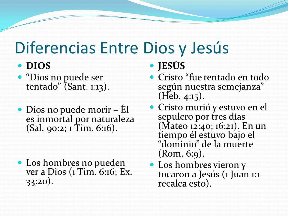 Diferencias Entre Dios y Jesús