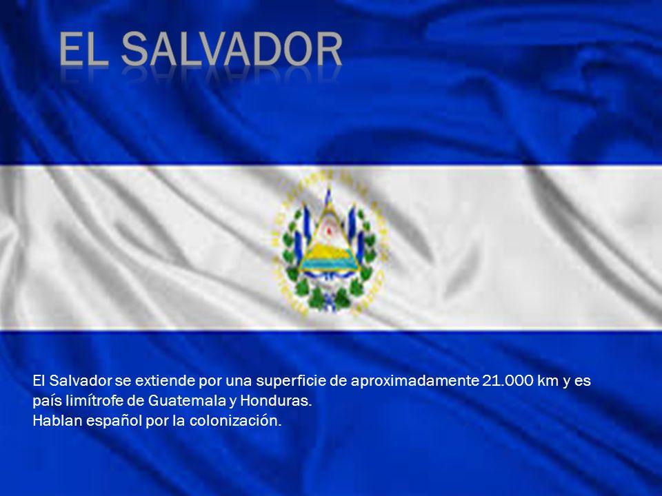 El salvador El Salvador se extiende por una superficie de aproximadamente 21.000 km y es país limítrofe de Guatemala y Honduras.