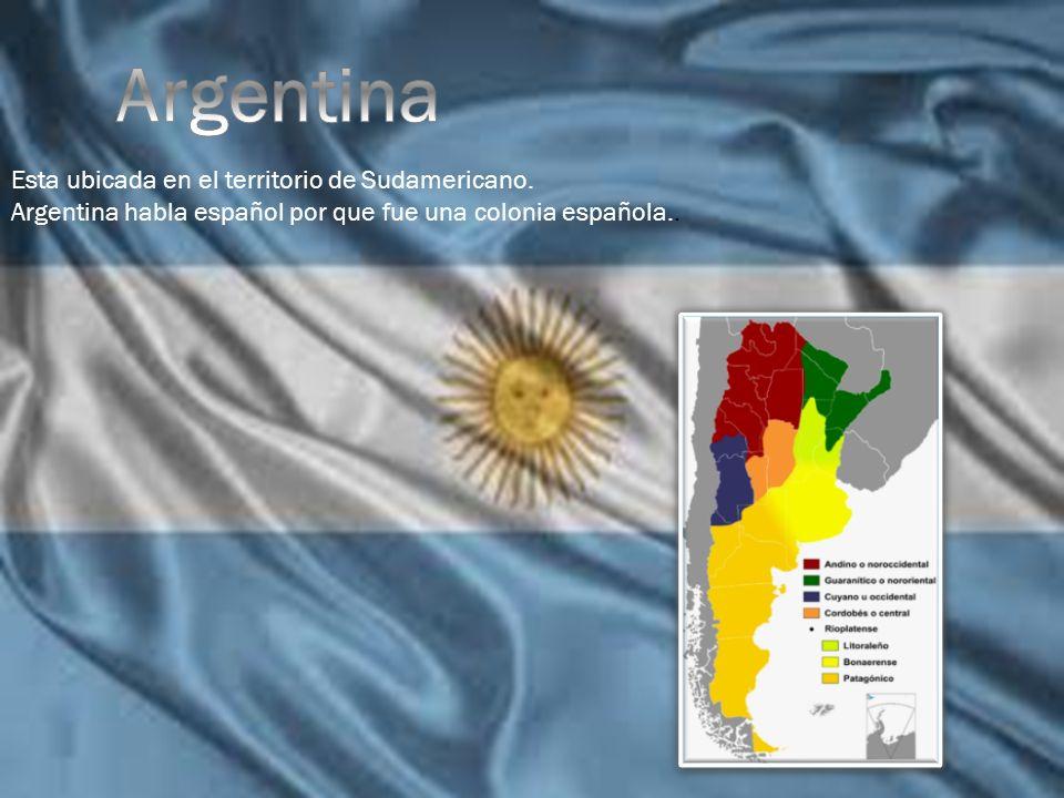 Argentina Esta ubicada en el territorio de Sudamericano.
