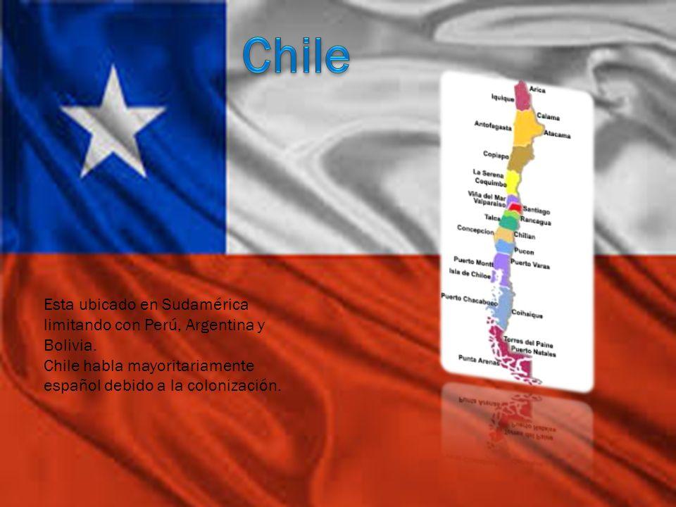 Chile Esta ubicado en Sudamérica limitando con Perú, Argentina y Bolivia.