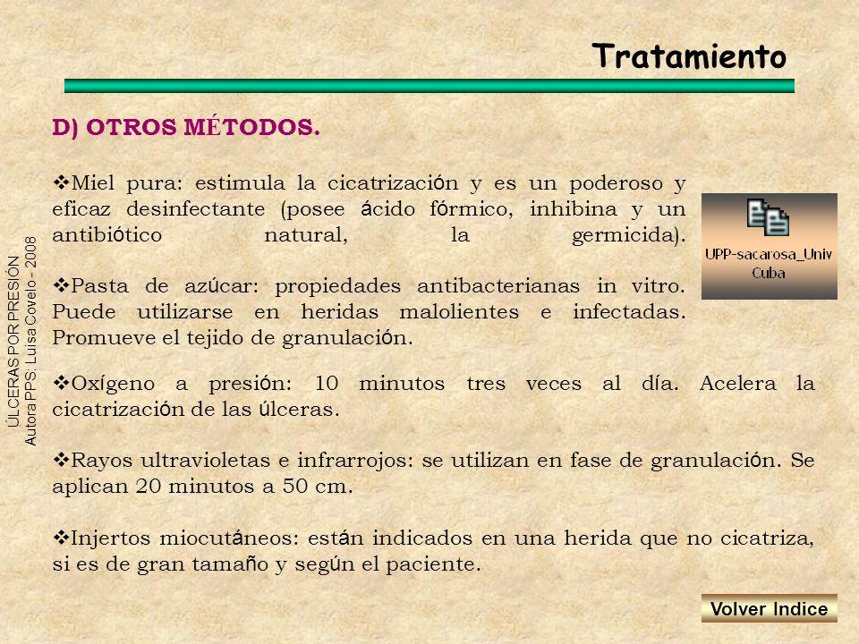 Tratamiento D) OTROS MÉTODOS.