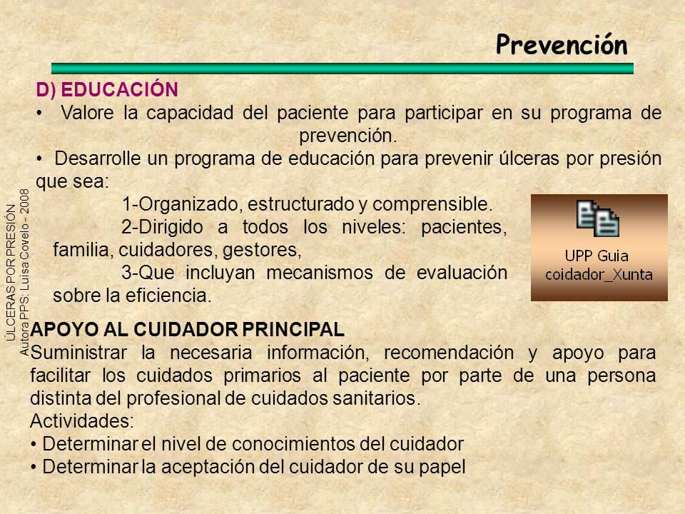 Prevención D) EDUCACIÓN