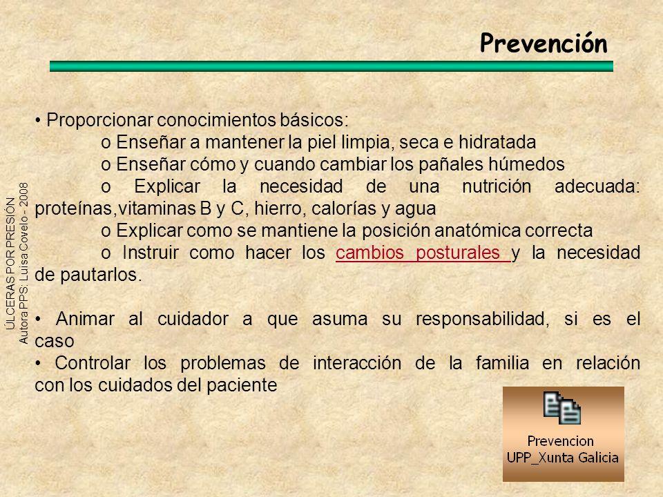Prevención • Proporcionar conocimientos básicos: