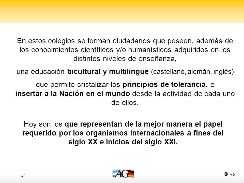 una educación bicultural y multilingüe (castellano, alemán, inglés)