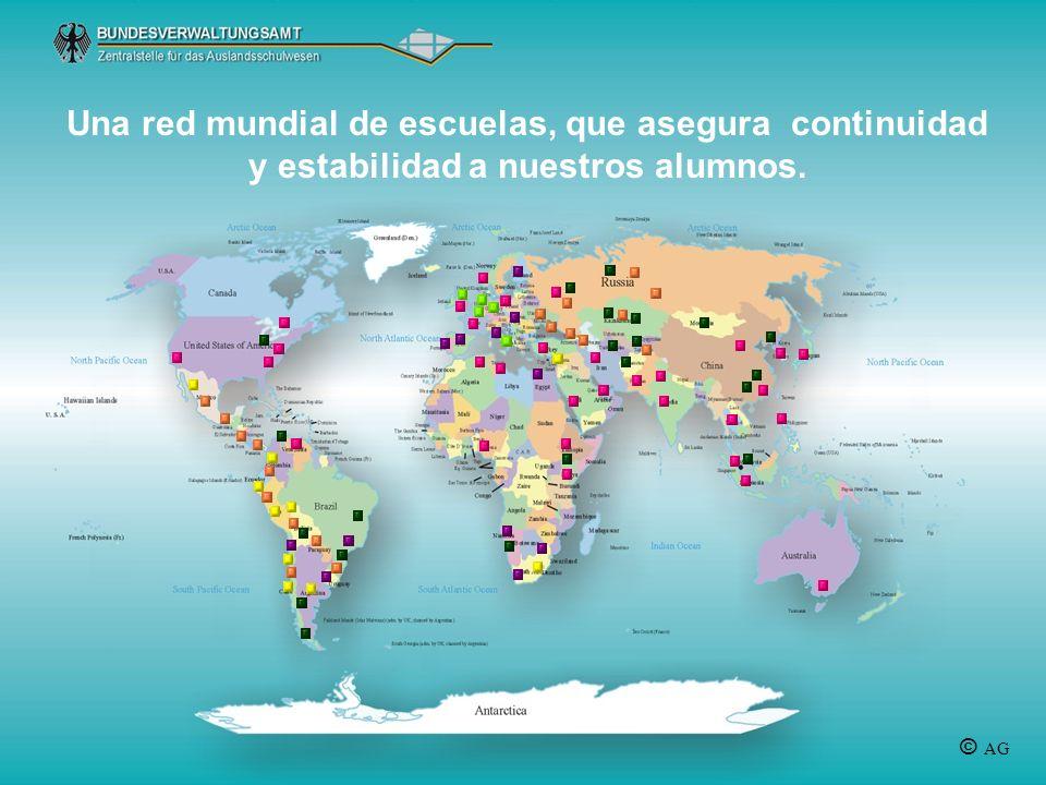 Una red mundial de escuelas, que asegura continuidad y estabilidad a nuestros alumnos.
