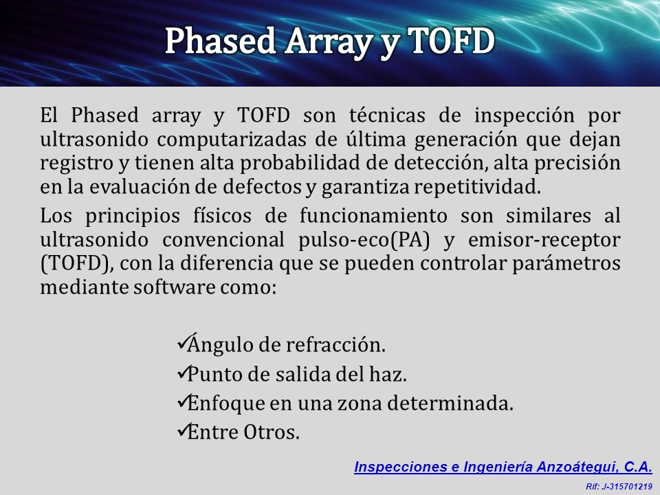 Phased Array y TOFD