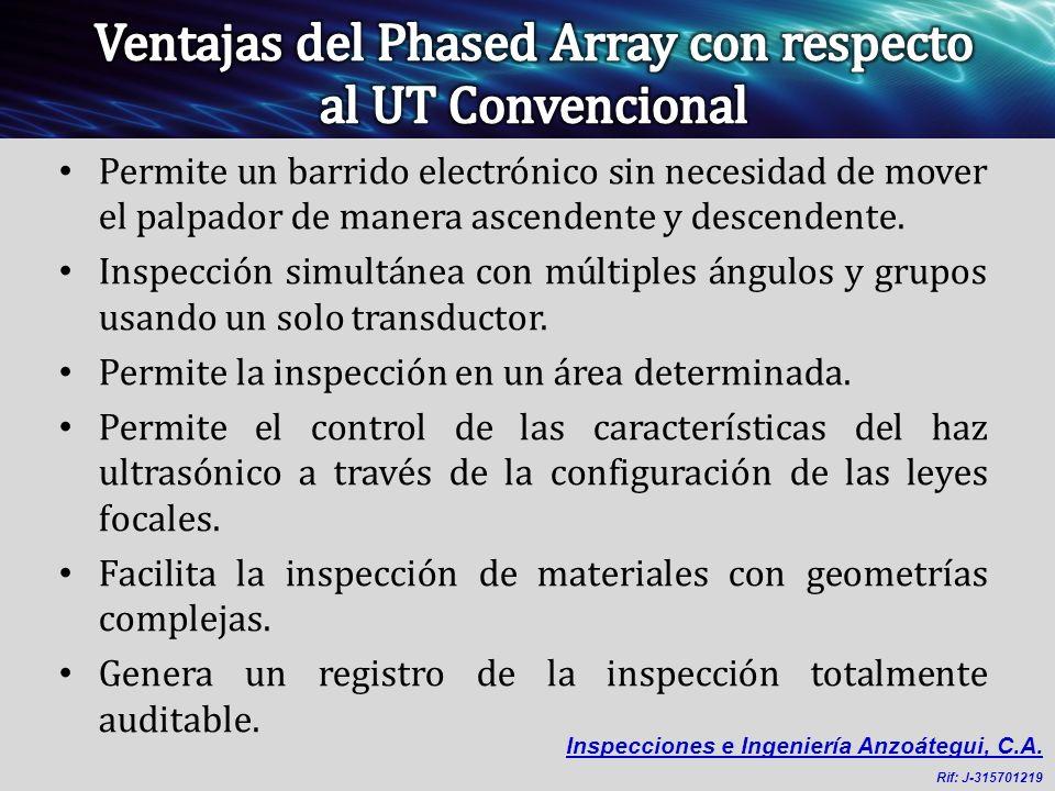 Ventajas del Phased Array con respecto al UT Convencional